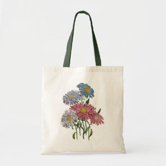 China Asters Tote Bag