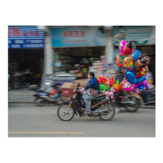 China Balloons in focus Postcard