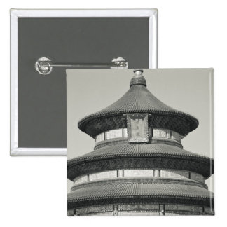China, Beijing, Chongwen District. Temple of 15 Cm Square Badge