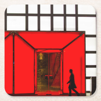 China, Beijing   Luxury Shopping Mall Square Paper Coaster