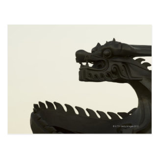 China, Beijing traditional dragon scultpture Postcard