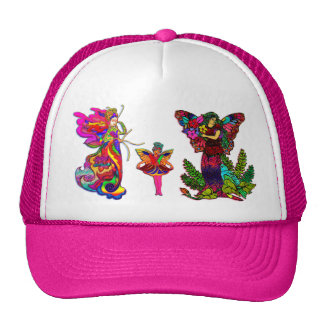 China Butterfly Women and Girl Cap