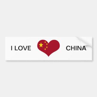 China Chinese Asia flag Car Bumper Sticker