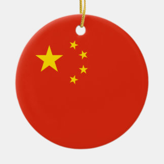China – Chinese Flag Ceramic Ornament