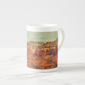 "China Coffee Tea Cup ""Sedona in Grunge"""
