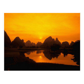 China. Colorful China. Beautiful Li river. Postcard