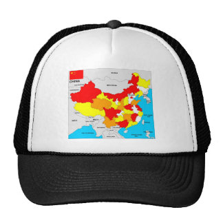 china country political map flag cap