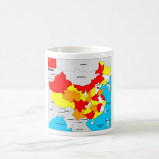 china country political map flag coffee mug