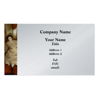 China Doll on Chair - Platinum Finish Pack Of Standard Business Cards