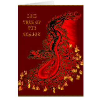 China dragon - 2012 - Year OF The Dragon Card