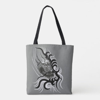 China Dragon in Tattoostyle Tote Bag
