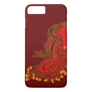 China Dragon red and gold design iPhone 7 Plus Case
