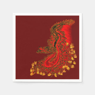 China Dragon red and gold design Paper Napkin