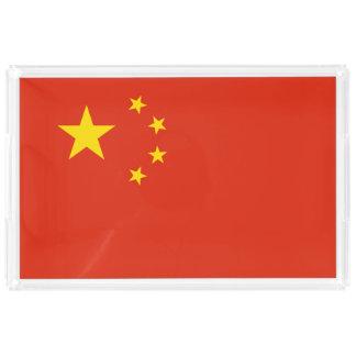 China Flag Acrylic Tray