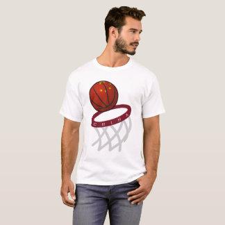 China Flag Basketball Hoop T-Shirt