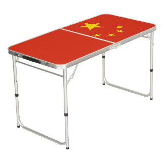 China Flag Beer Pong Table
