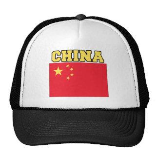 China Flag Mesh Hat