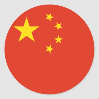 China Flag Classic Round Sticker