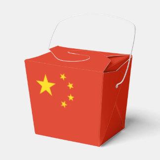 China Flag Favour Box
