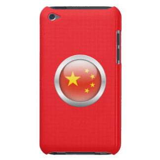 China Flag in Orb Barely There iPod Case