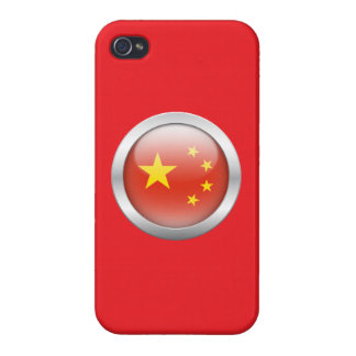 China Flag in Orb Case For iPhone 4