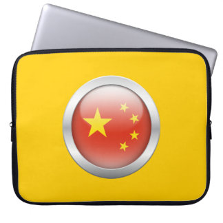 China Flag in Orb Laptop Sleeve