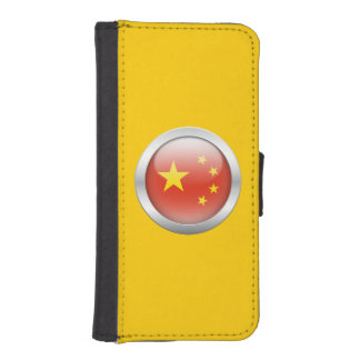 China Flag in Orb Phone Wallet