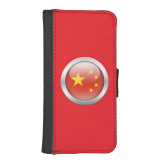 China Flag in Orb Phone Wallets
