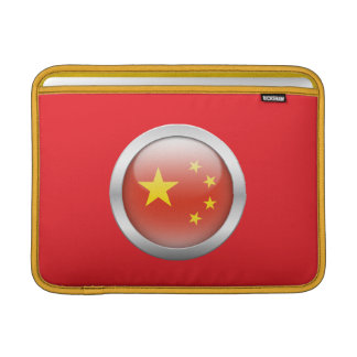 China Flag in Orb Sleeves For MacBook Air