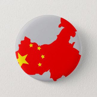 China flag map 6 cm round badge