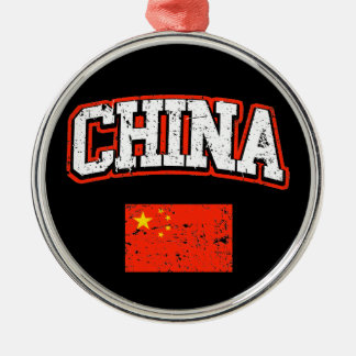 China Flag Metal Ornament