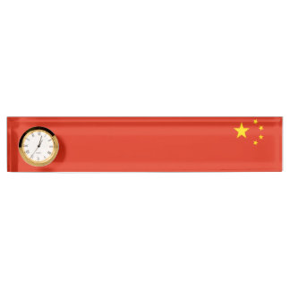 China Flag Name Plate