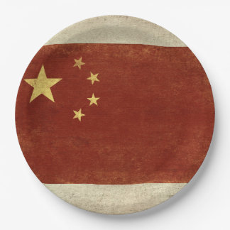 China Flag Paper Plates