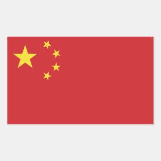 China Flag Rectangular Sticker