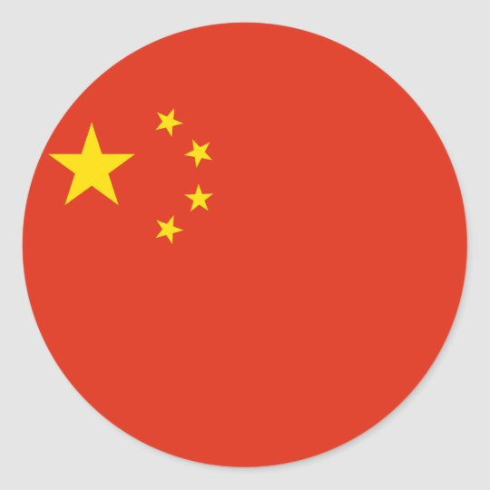 China flag round stickers
