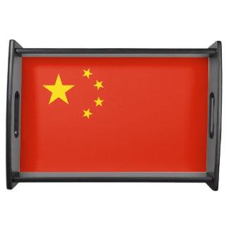China Flag Serving Tray