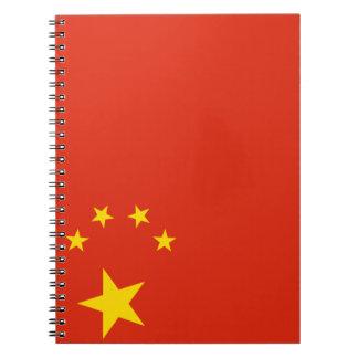 China Flag Spiral Notebook