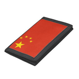 China Flag Trifold Wallet