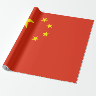 China Flag Wrapping Paper
