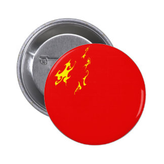 China Gnarly Flag Pinback Button