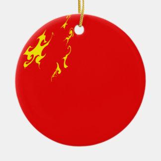 China Gnarly Flag Round Ceramic Decoration