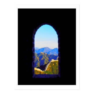 China Great Wall Mountain Landscape Postcard