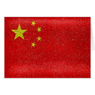 China Grunge Style Flag Card