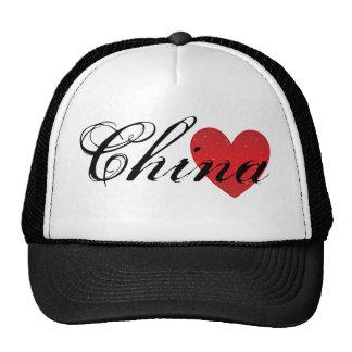 China Heart Trucker Hat