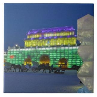 CHINA, Heilongjiang Province, Haerbin (Harbin). Large Square Tile