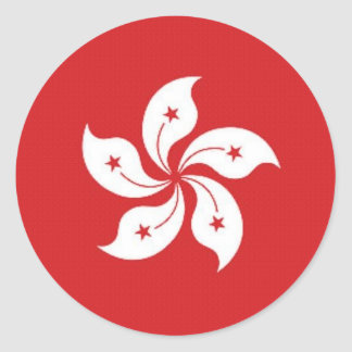 China Hong Kong Flag Round Sticker