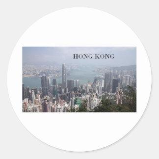 China, Hong Kong (St.K) Classic Round Sticker