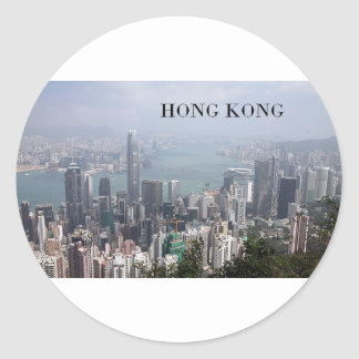 China, Hong Kong (St.K) Round Sticker