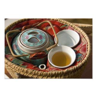 China, Hong Kong. Traditional Chinese teapot & Art Photo