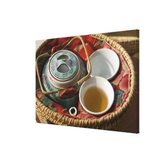 China, Hong Kong. Traditional Chinese teapot & Gallery Wrap Canvas
